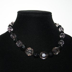 Vintagejelyfish Jewelry - Beautiful black and gray beaded necklace adjust.
